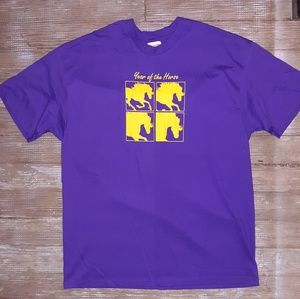 Vintage Year of The Horse T shirt size XL